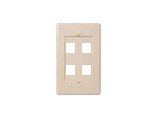 BELKIN F4E456-4-IV 4 Port Ivory Single Gang Faceplate