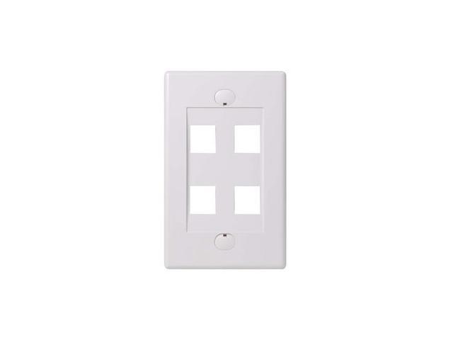 BELKIN F4E456-4-WHT 4 Socket Faceplate