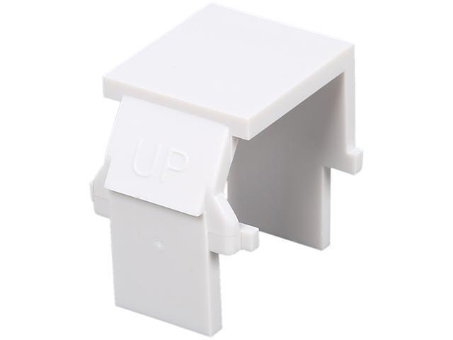 C2G 03820 Snap-In Blank Keystone Insert Module - White