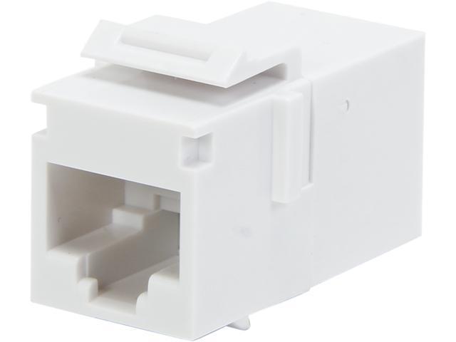 C2G 03677 RJ45 (8P8C) Coupler Keystone Insert Module - White