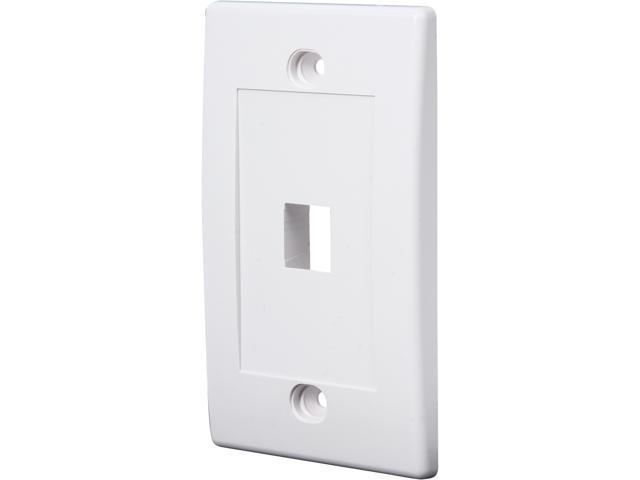 Belkin F4E456-1-WHT 1PORT White Single Gang Faceplate