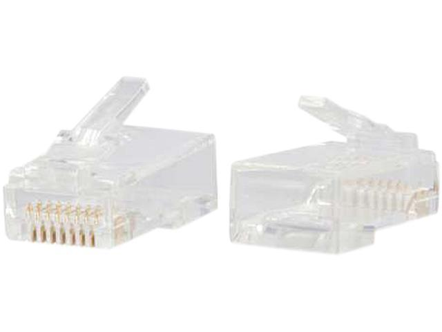 C2G RJ45 Cat6 Modular Plug for Round Solid/Stranded Cable - 25pk