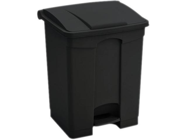 Safco 9923BL Plastic Step-On - 23 Gallon 19.5Wx16Dx26H Black