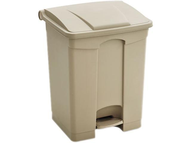 Safco 9923TN Plastic Step-On - 23 Gallon 19.5Wx16Dx26H Tan