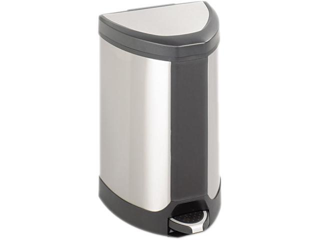 "Safco 9686SS Stainless Step-On 7 Gallon Receptacle 14""w x 14""d x 21""h Stainless Steel - OEM"