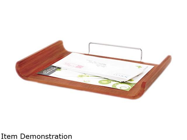 Desk tray single tier bamboo letter cherry neweggcom for Bamboo letter tray