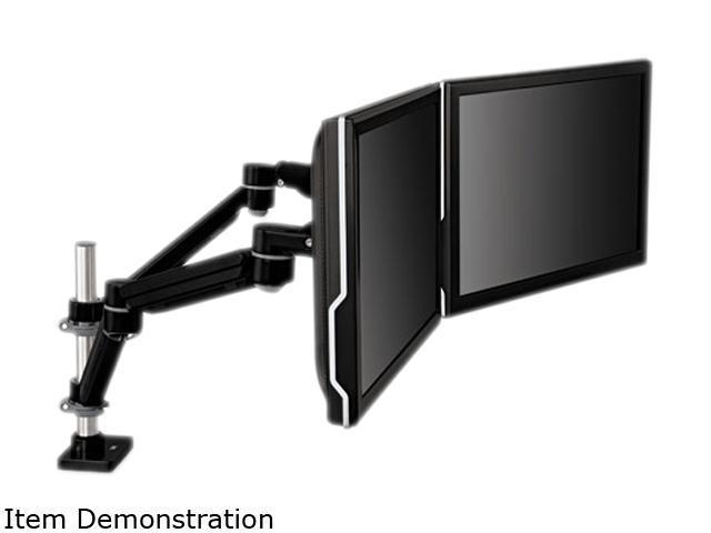 Easy-Adjust Dual Monitor Arm&#59; 4 1/2 X 11 1/2, Black/Gray