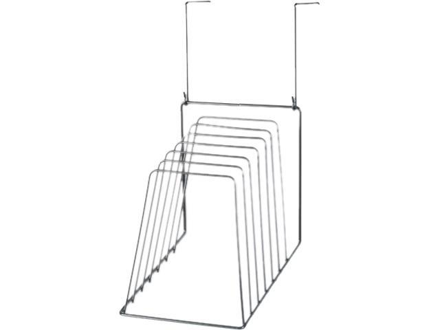 Wire Partition Additions Six-Step File Organizer, 7 1/2 X 10 1/2, Blac