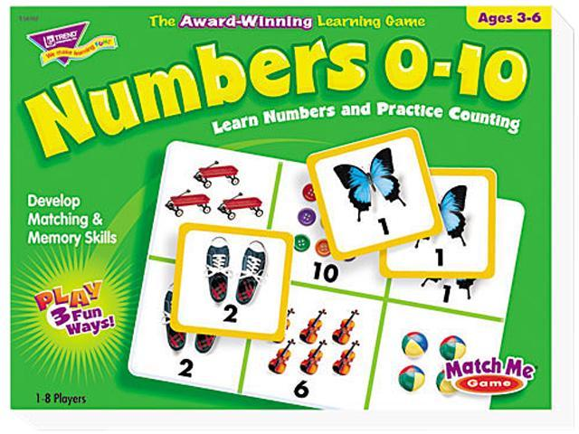 Numbers 0-10 Match Me Puzzle Game, Ages 3-6
