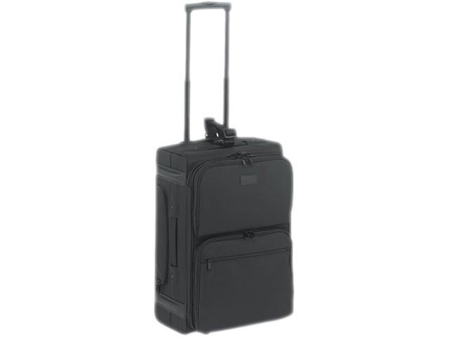 Rolling Dual-Side Laptop/Overnight Case, Nylon, 16 X 9 X 22, Black