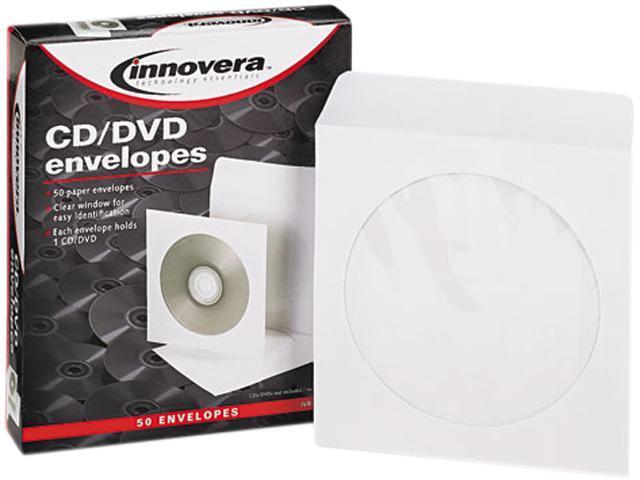 Cd/Dvd Envelopes, Clear Window, White, 50/Box