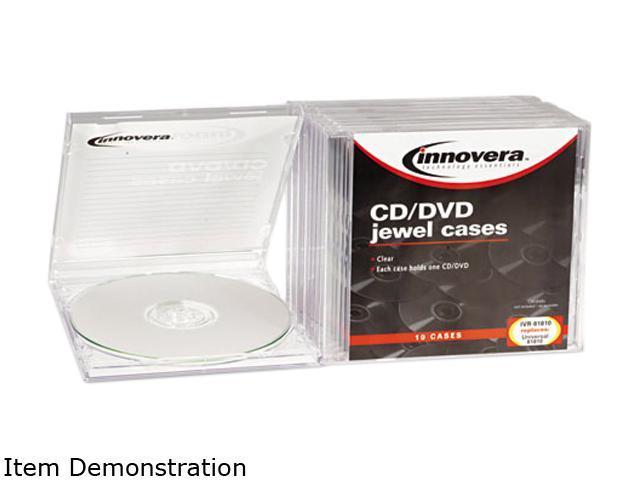 Cd/Dvd Standard Jewel Case, Clear, 10/Pack