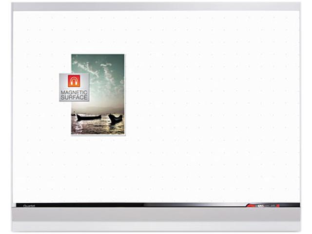 Porcelain Magnetic Whiteboard, 48 x 36, White/Silver