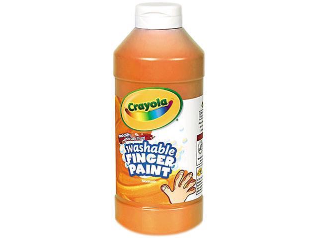 Washable Fingerpaint, Orange, 16 oz