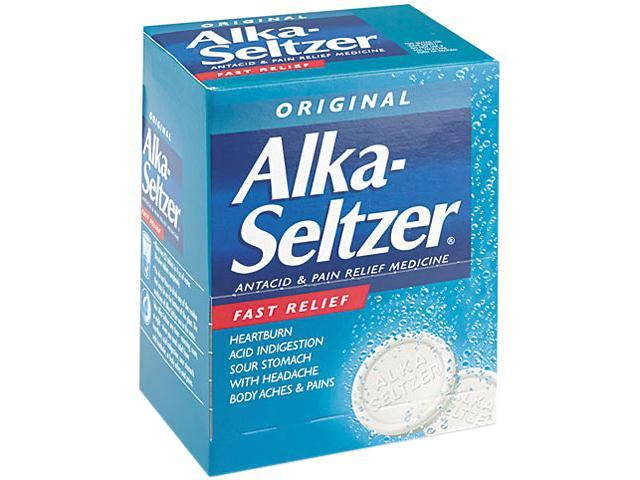 Alka-Seltzer PFYBXAS50 Antacid and Pain Relief Medicine, Two-Pack, 50 Packs/Box