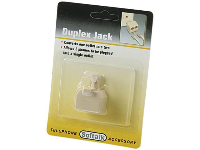 Softalk Modular Duplex Jack