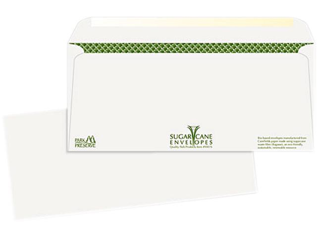 Bagasse Sugarcane Business Envelopes #10 500/Box