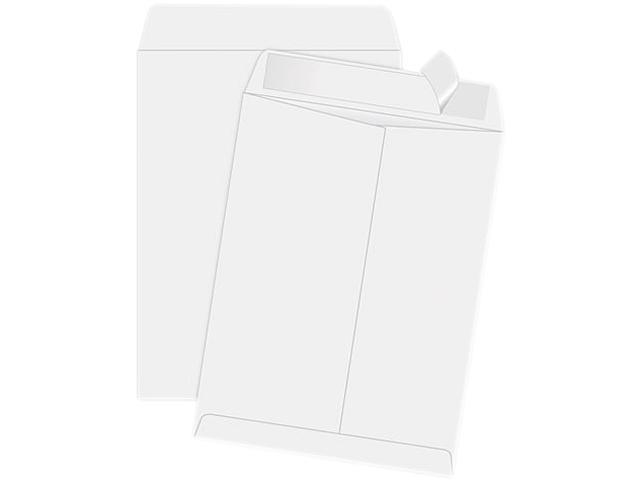 """Redi-Strip Envelopes, Plain, 11-1/2""""x14-1/2"""", 100/BX, White QUA44834"""