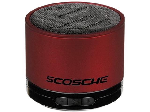 Scosche BTSPK1RD Portable Bluetooth Wireless Media Speaker