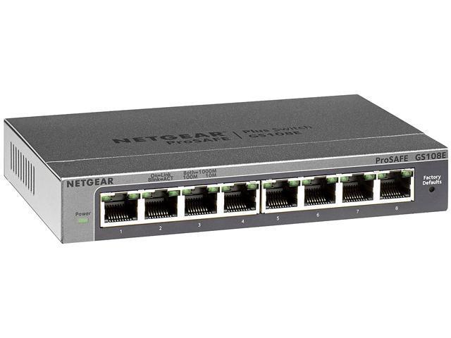 NETGEAR ProSAFE 8-Port Gigabit Web Managed (Plus) Switch (GS108E) - Lifetime Warranty