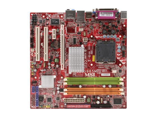MSI G965M-F LGA 775 Intel G965 Express Micro ATX Intel Motherboard
