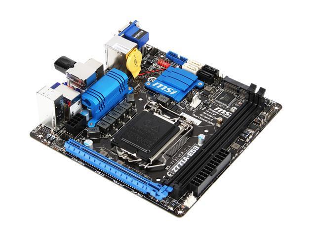 MSI Z77IA-E53 LGA 1155 Intel Z77 HDMI SATA 6Gb/s USB 3.0 Mini ITX Intel Motherboard