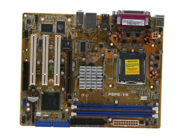 ASUS P5PE-VM LGA 775 Intel 865G Micro ATX Intel Motherboard