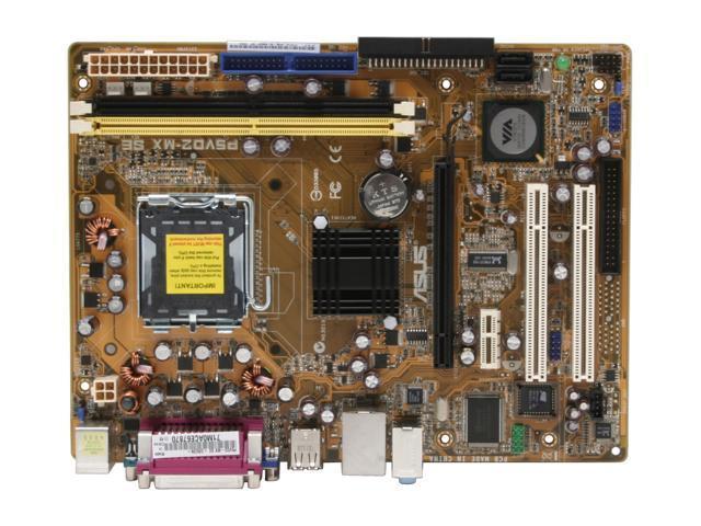 ASUS P5VD2-MX SE LGA 775 VIA P4M890 Micro ATX Intel Motherboard