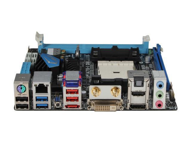 ASUS F1A75-I Deluxe FM1 AMD A75 (Hudson D3) HDMI SATA 6Gb/s USB 3.0 Mini ITX AMD Motherboard