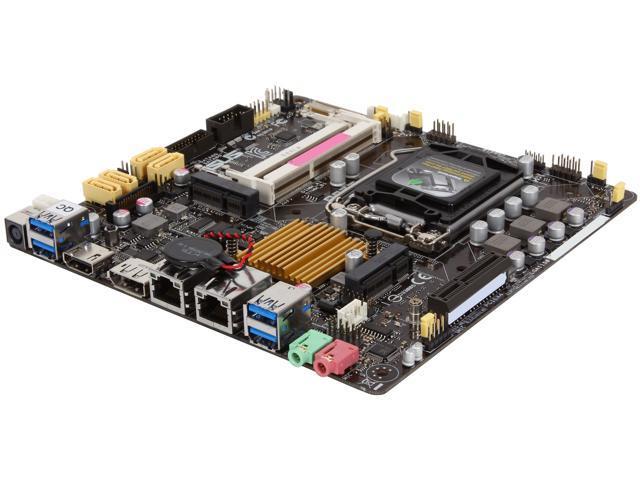 ASUS Q87T/CSM LGA 1150 Intel Q87 HDMI SATA 6Gb/s USB 3.0 Thin Mini-ITX Intel Motherboard For AiO And Ultra Slim Systems