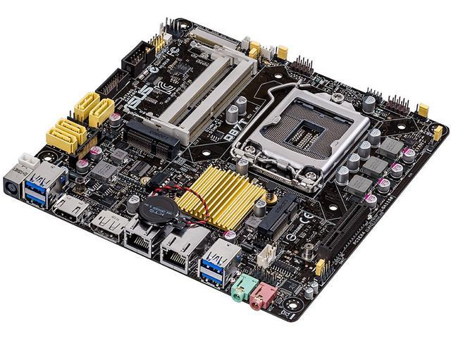 ASUS Q87T/CSM LGA 1150 Intel Q87 HDMI SATA 6Gb/s USB 3.0 Thin Mini-ITX Intel Motherboard For AiO And Ultra Slim Systems Certified ...
