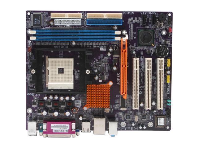 ECS K8M800-M2 (2.0) 754 VIA K8M800 Micro ATX AMD Motherboard