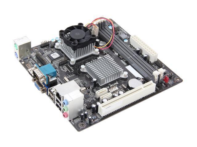 ECS VX900-I (v1.0A) VIA L2007 (1.6G, 800MHz) VIA VX900 Mini ITX Motherboard/CPU Combo