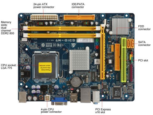 BIOSTAR G31D-M7 LGA 775 Intel G31 Micro ATX Intel Motherboard