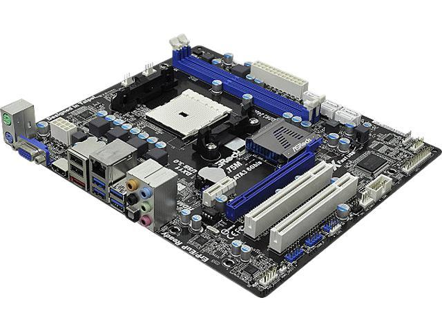 ASRock A75M Micro ATX AMD Motherboard with UEFI BIOS