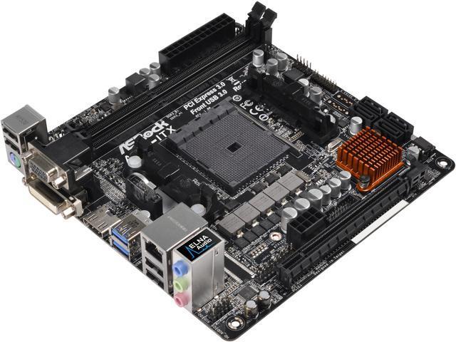 ASRock A68M-ITX FM2+ / FM2 AMD A68H FCH (Bolton D2H) SATA 6Gb/s USB 3.0 HDMI Mini ITX AMD Motherboard