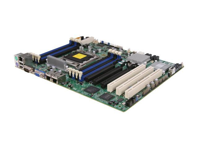 SUPERMICRO X9SRE-F Single Socket R (LGA 2011) E5 ATX Workstation/Server Motherboard DDR3 1600, PCI-E x16 Gen 3.0, KVM