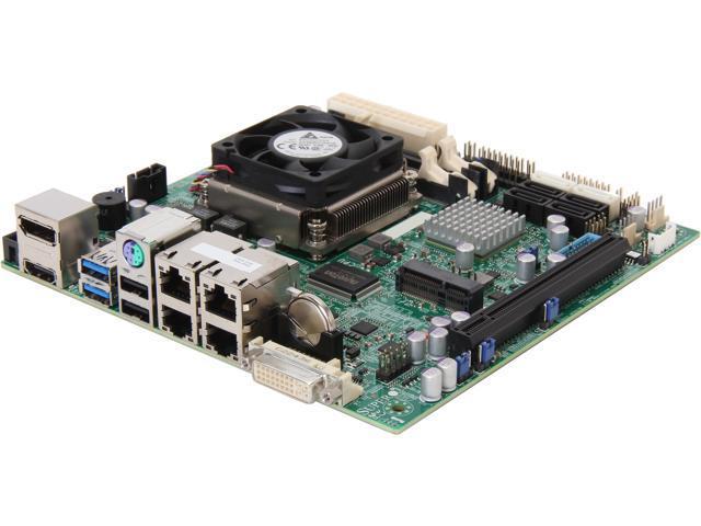 SUPERMICRO MBD-X9SPV-M4-O Mini ITX Server Motherboard FCBGA1023 Intel QM77 DDR3 1600/1333