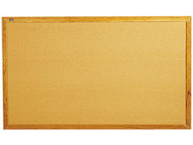 Quartet Oak Frame Bulletin Board with Brackets 1 EA