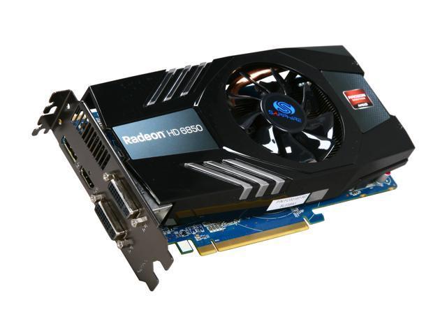 SAPPHIRE 100315L Radeon HD 6850 1GB 256-bit GDDR5 PCI Express 2.1 x16 HDCP Ready CrossFireX Support Video Card with Eyefinity
