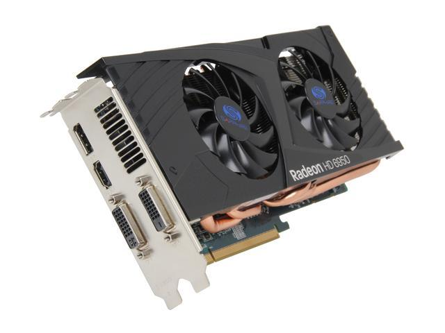 SAPPHIRE Radeon HD 6950 DirectX 11 11188-22-20G 2GB 256-Bit GDDR5 PCI Express 2.1 x16 HDCP Ready CrossFireX Support Video Card (OC Edition)