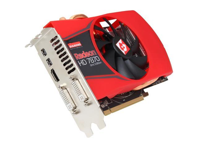 DIAMOND Radeon HD 7870 GHz Edition DirectX 11.1 7870PE52GV 2GB 256-Bit GDDR5 PCI Express 3.0 x16 CrossFireX Support Video Card