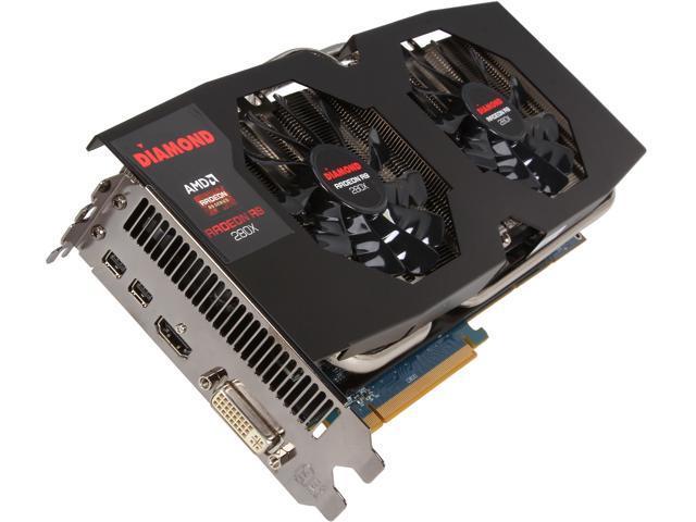 DIAMOND R9 200 Radeon R9 280X DirectX 11.2 R9280XD53GXOC 3GB 384-Bit GDDR5 PCI Express 3.0 x16 HDCP Ready CrossFireX Support Plug-in Card Video Card