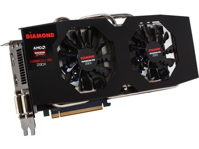 DIAMOND Radeon R9 290X DirectX 11.2 R9290XD54GV2 4GB 512-Bit GDDR5 PCI Express 3.0 x16 CrossFireX Support Video Card