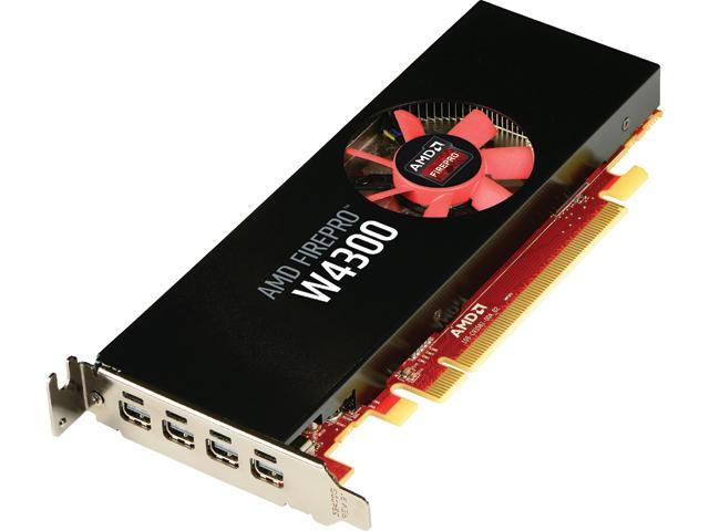 AMD FirePro W4300 100-505973 4GB 128-bit GDDR5 PCI Express 3.0 x16 Low-profile design fits SFF and full-size ATX chassis Workstation Video Card