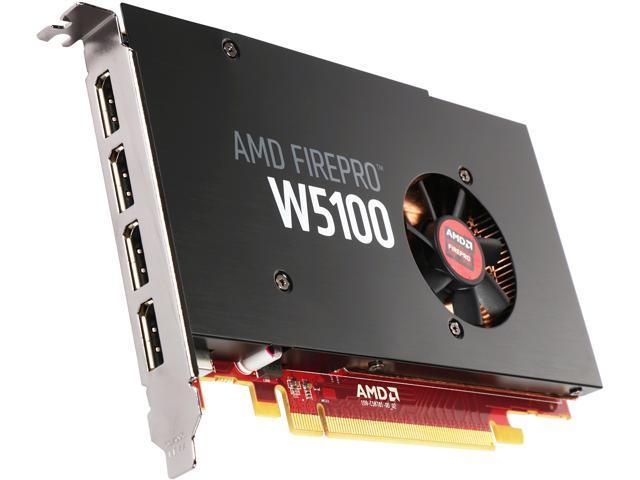 AMD FirePro W5100 100-505974 4GB 128-bit GDDR5 PCI Express 3.0 x16 Workstation Graphics