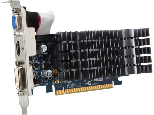 ASUS GeForce 8400 GS 8400GS-SL-512MD3-L 512MB 32-Bit DDR3 PCI Express 2.0 x16 HDCP Ready Low Profile Video Card