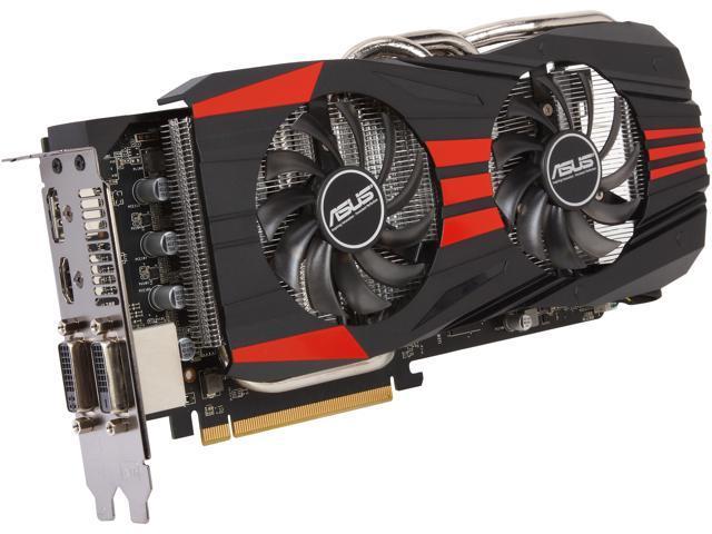 ASUS DirectCU II Radeon R9 270X DirectX 11.2 R9270X-DC2T-4GD5 4GB 256-Bit GDDR5 PCI Express 3.0 HDCP Ready CrossFireX Support Video Card