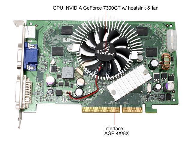Leadtek A7300GT 256 TD GeForce 7300GT 256MB 128-bit GDDR2 AGP 4X/8X Video Card