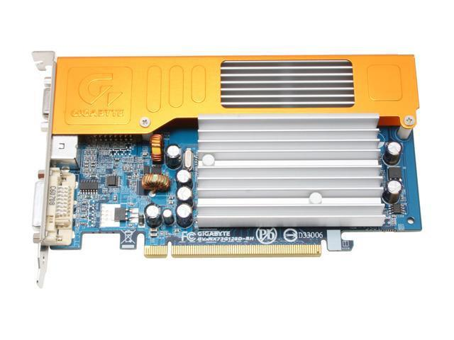 GIGABYTE GV-NX73G128D-RH GeForce 7300GS 512MB(128MB on board) 64-bit GDDR2 PCI Express x16 SLI Support Video Card